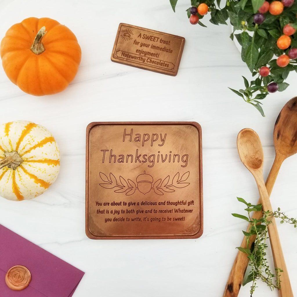 Happy Thanksgiving Personalized Chocolate Card