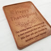 Happy Thanksgiving Personalized Chocolate Certificate