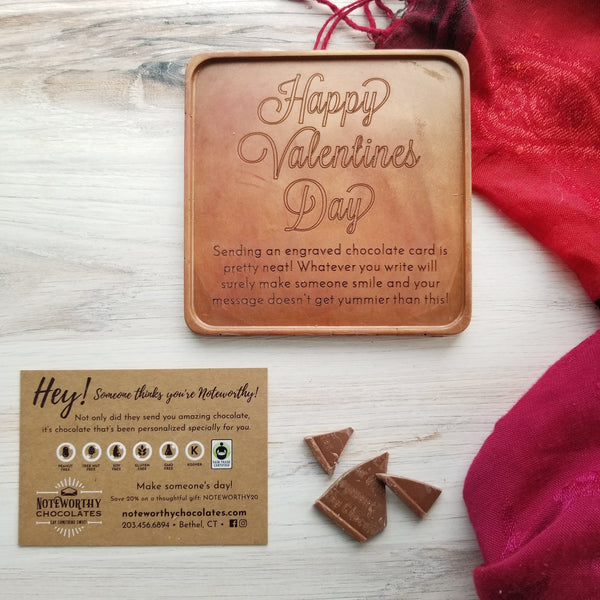 Happy Valentine's Day Personalized Chocolate Card