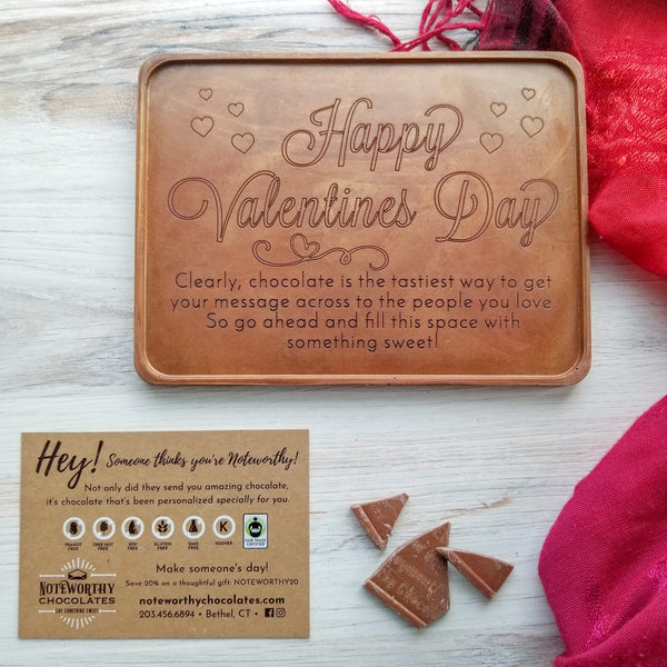 Happy Valentine's Day Personalized Chocolate Certificate