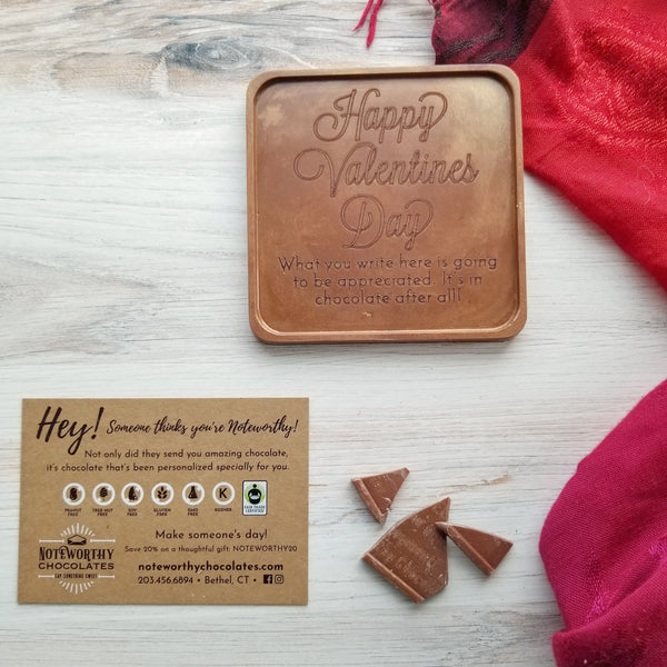 Happy Valentine's Day Personalized Chocolate Note