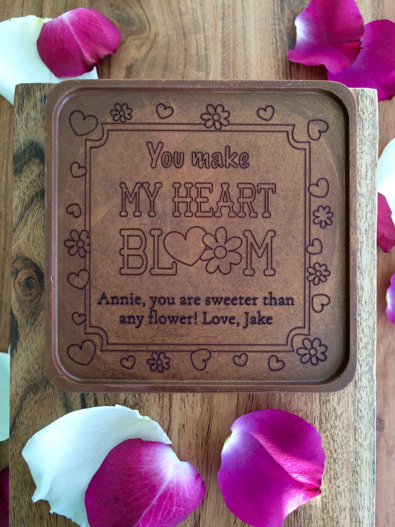 Heart Bloom Chocolate Note