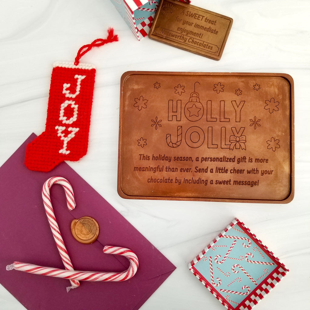 Holly Jolly Personalized Chocolate Certificate