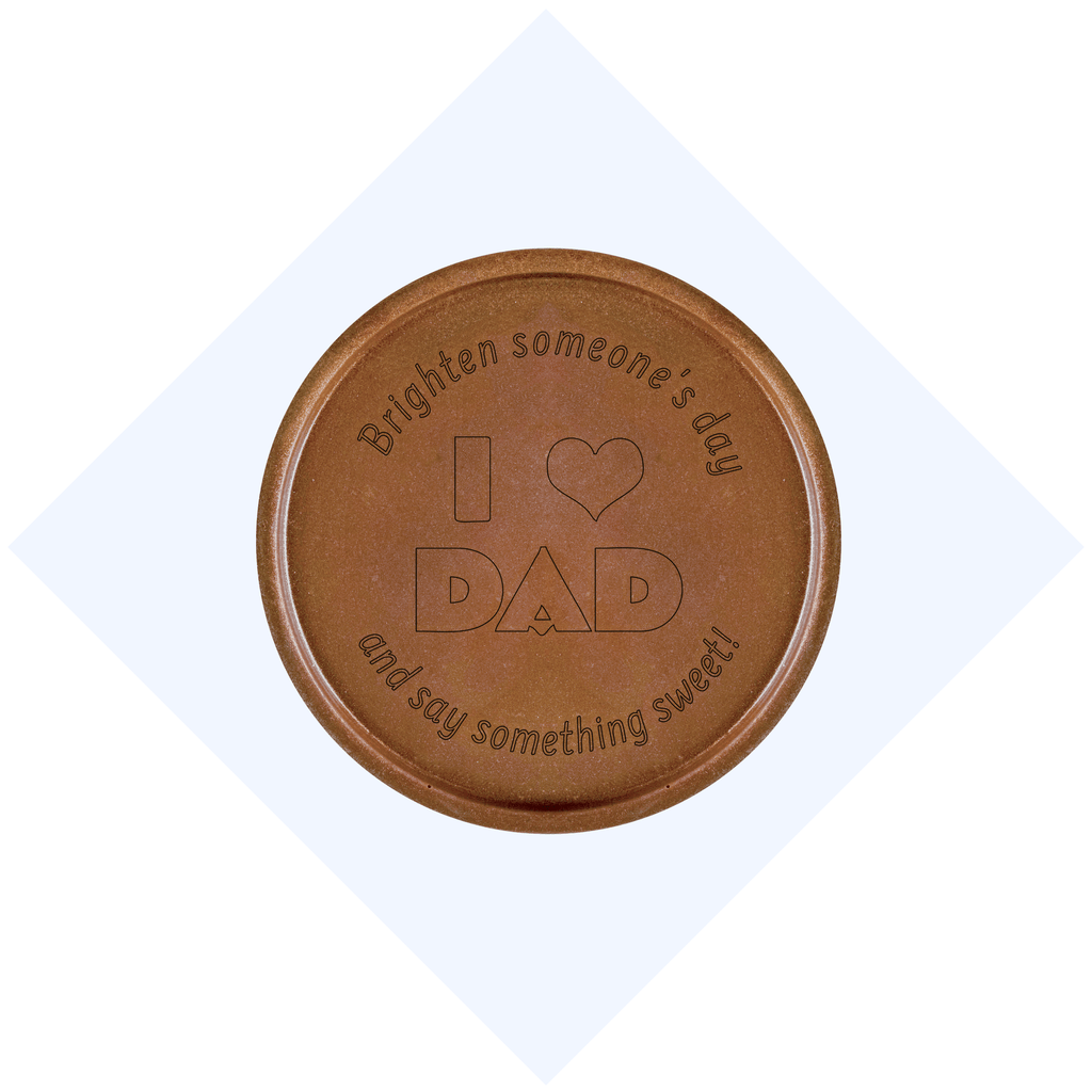 I Heart Dad Chocolate Medallions - Box of 3
