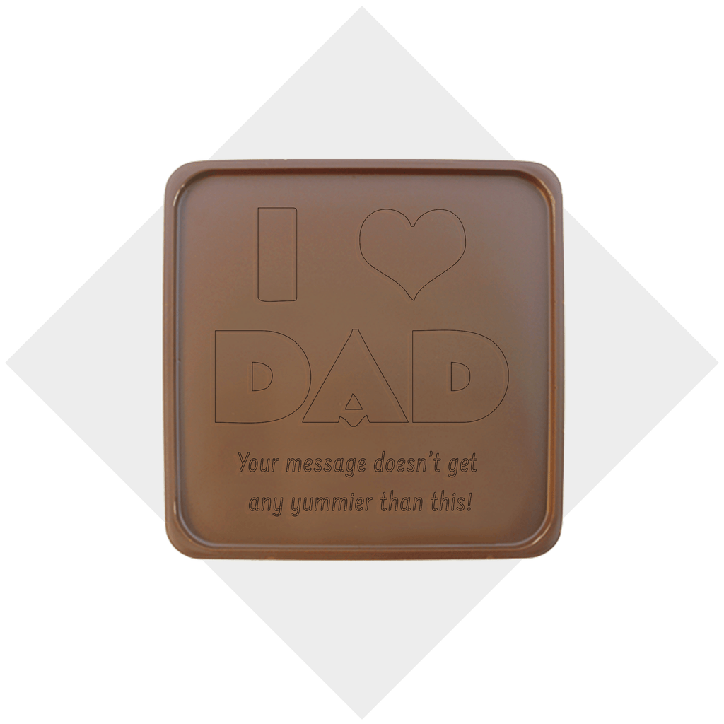 I Heart Dad Chocolate Note