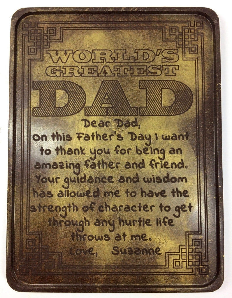 World's Greatest Dad Chocolate Letter - Noteworthy Chocolates