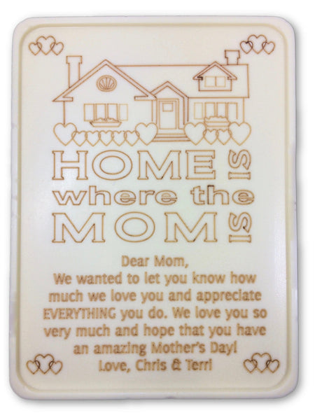 Home Is Where The Mom Is Letter - Noteworthy Chocolates