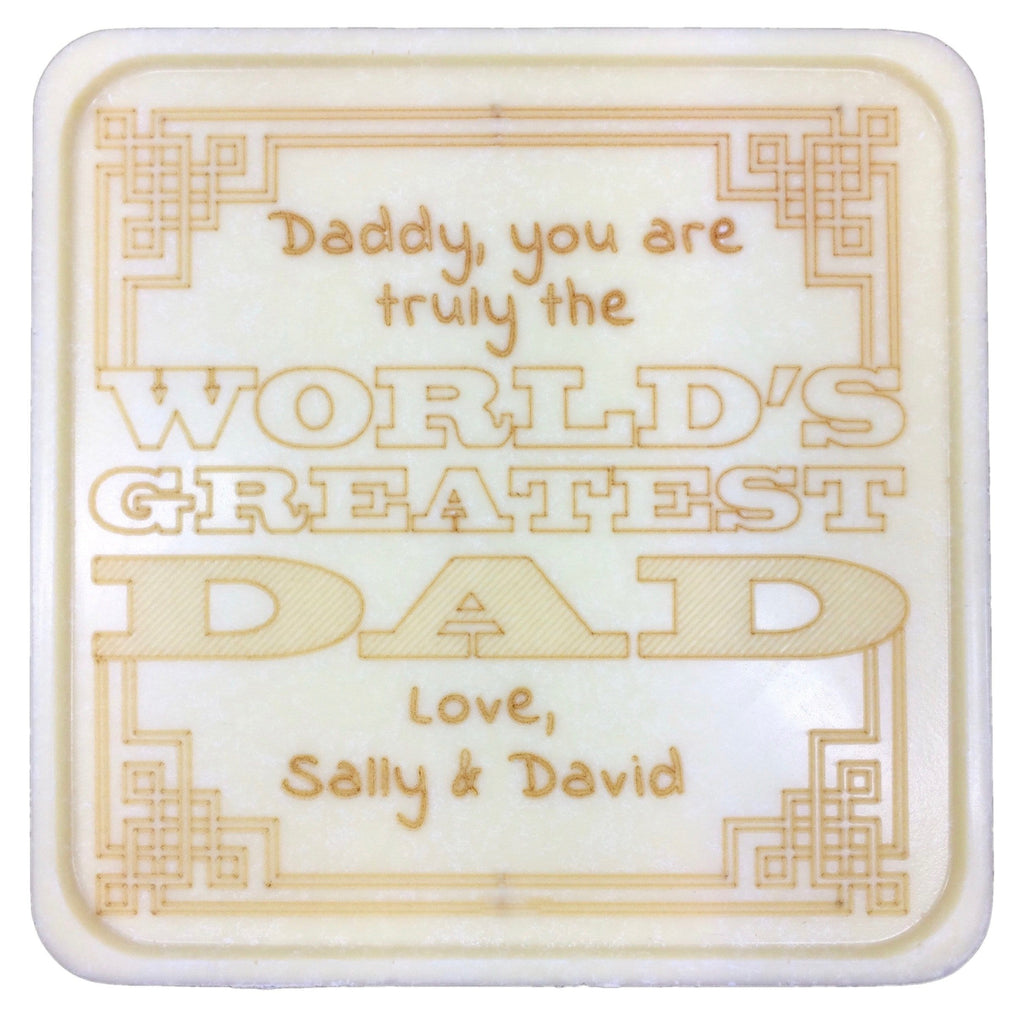 World's Greatest Dad Chocolate Note - Noteworthy Chocolates