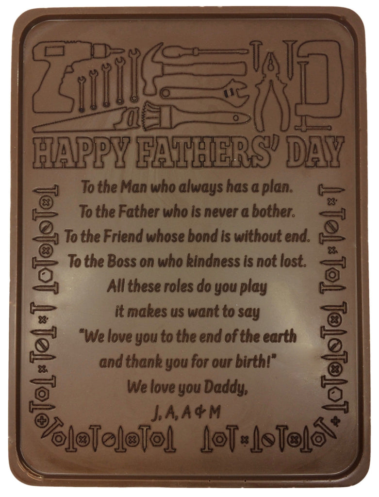 Father's Day Fix It Chocolate Letter
