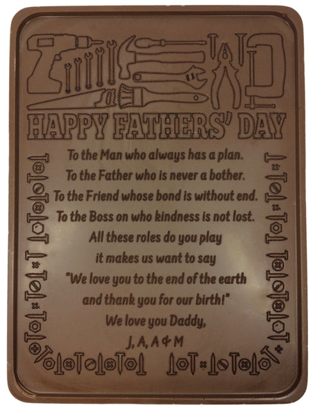 Father's Day Fix It Chocolate Letter - Noteworthy Chocolates