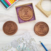 Noteworthy Chocolates Greetings Keep Calm Personalized Chocolate Medallions - Box of 3 Personalized