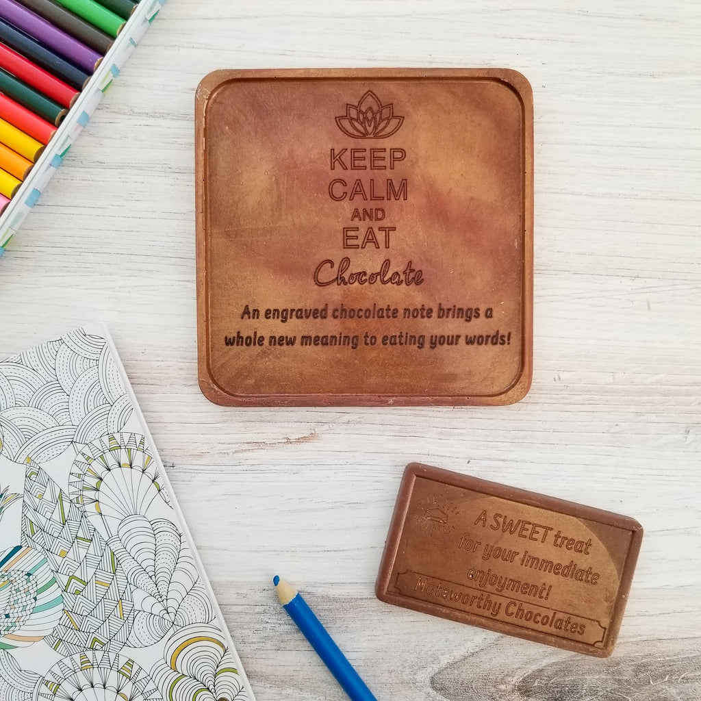 Noteworthy Chocolates Greetings Keep Calm Personalized Chocolate Note Keep Calm Custom Chocolate Note Personalized