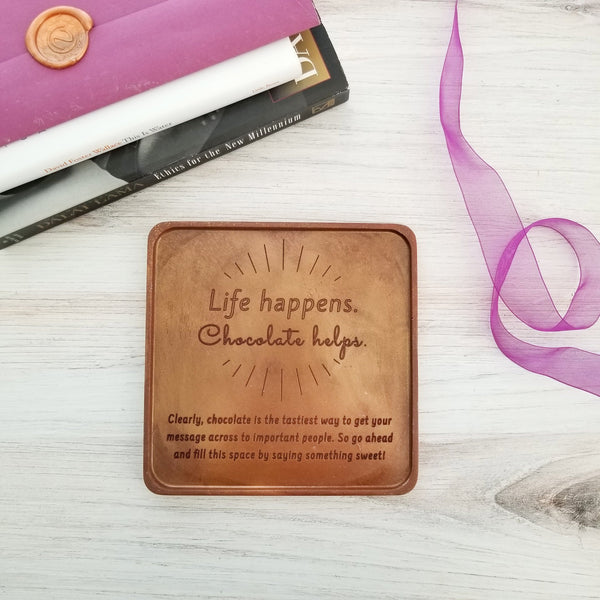 Life Happens Personalized Chocolate Card