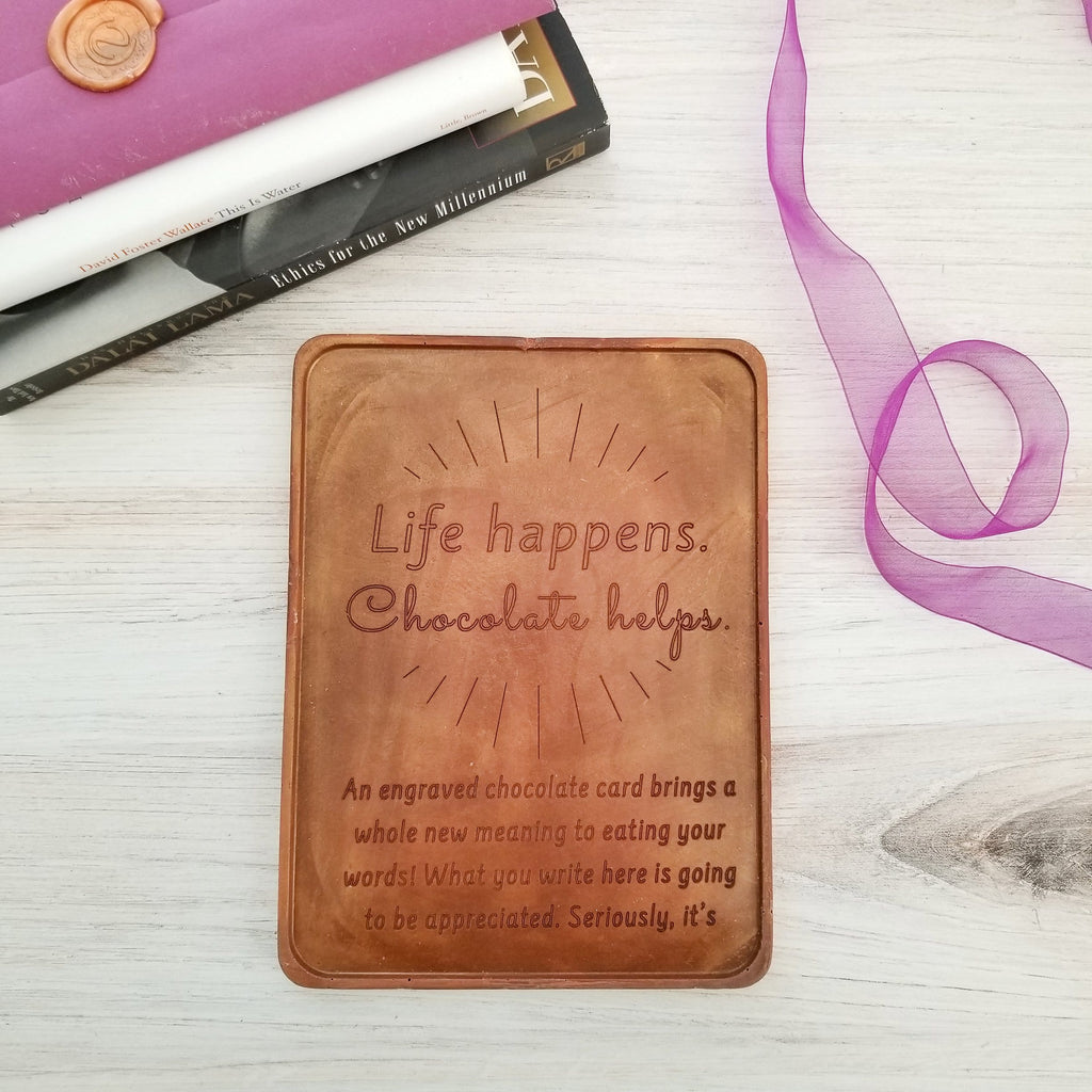 Noteworthy Chocolates Greetings Life Happens Personalized Chocolate Certificate Personalized