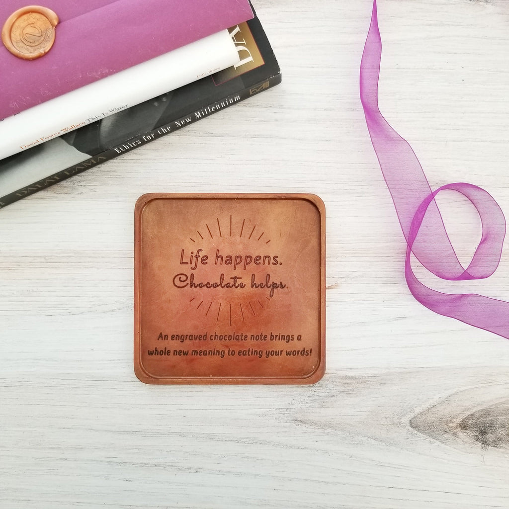Life Happens Personalized Chocolate Note