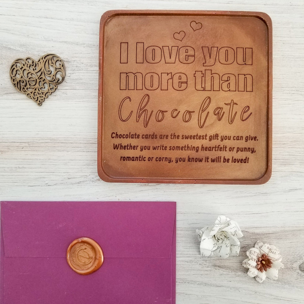 Love You More Than Chocolate Personalized Chocolate Card