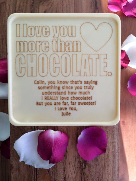 Love You More Chocolate Card