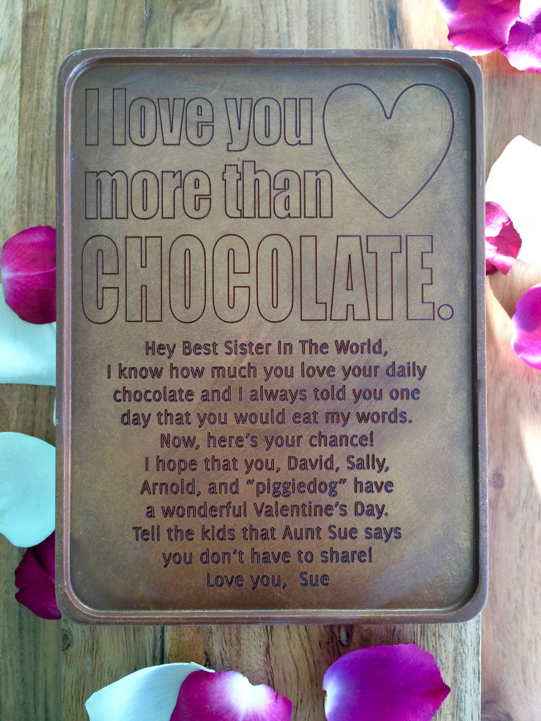 Love You More Chocolate Letter