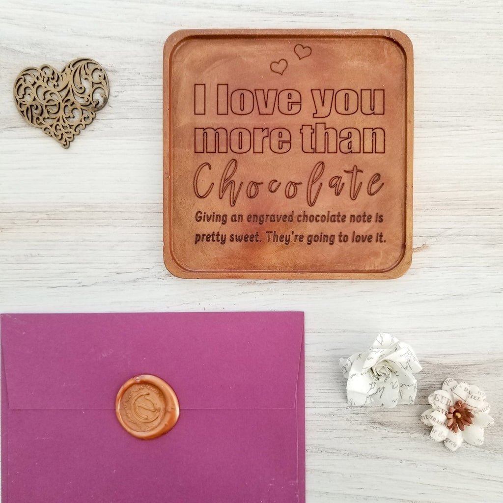 Love You More Than Chocolate Personalized Chocolate Note