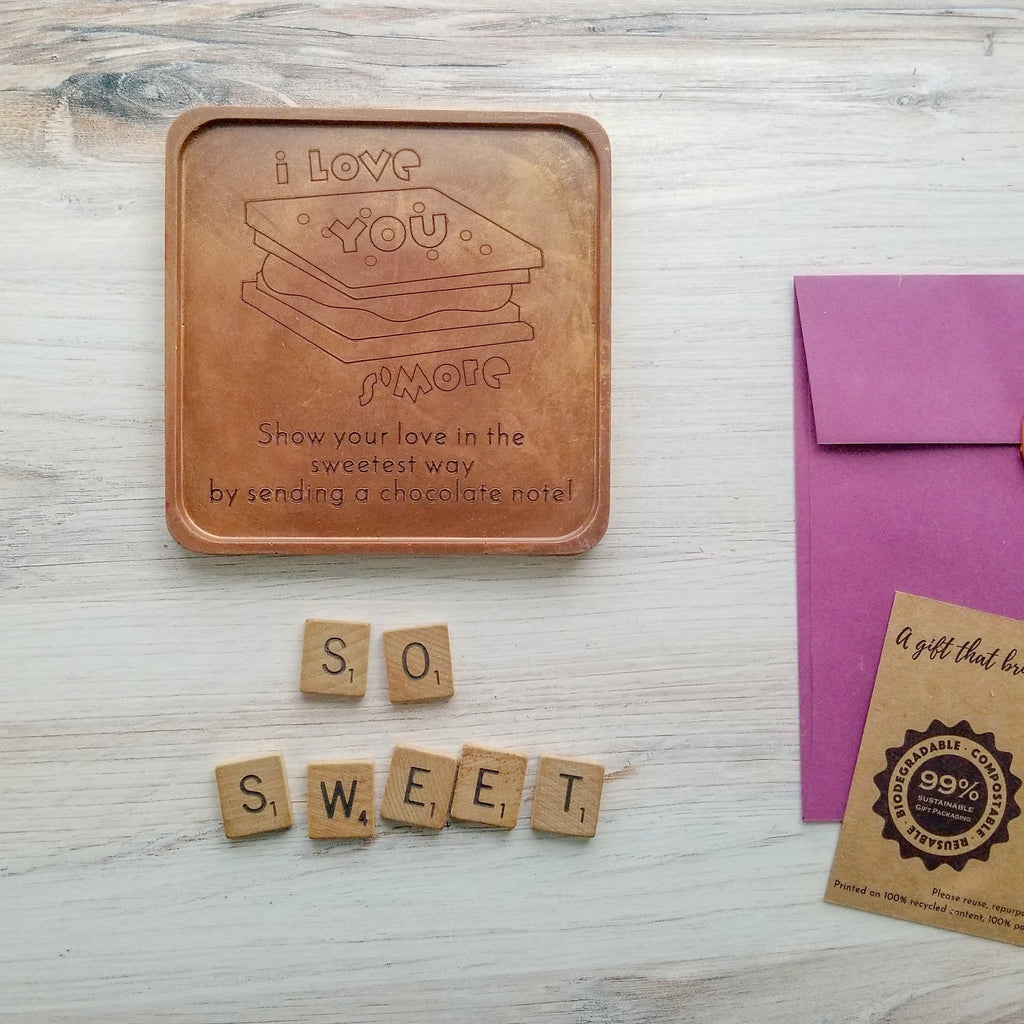 Love You S'more Personalized Chocolate Note