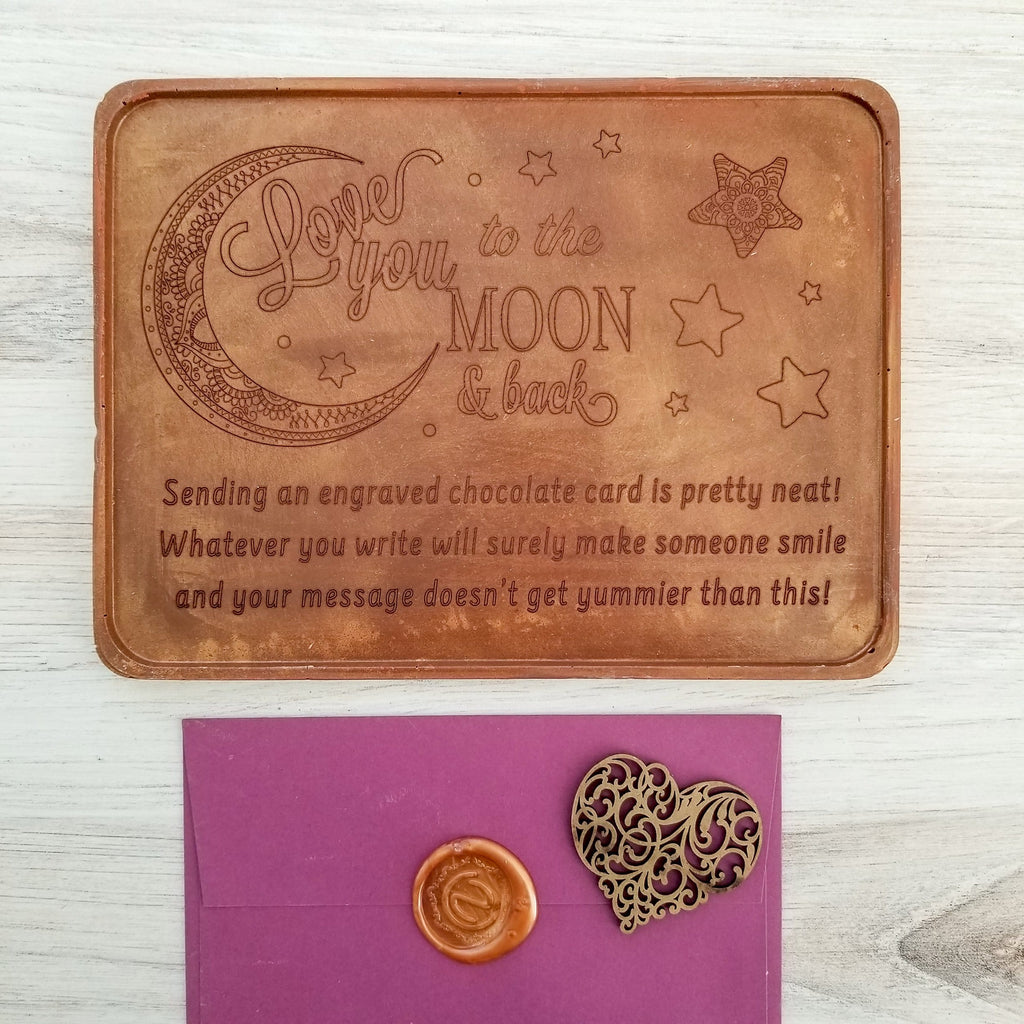 Noteworthy Chocolates Greetings Love You To The Moon Personalized Chocolate Certificate Personalized