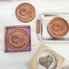 Noteworthy Chocolates Greetings Love You To The Moon Personalized Chocolate Medallions - Box of 3 Personalized