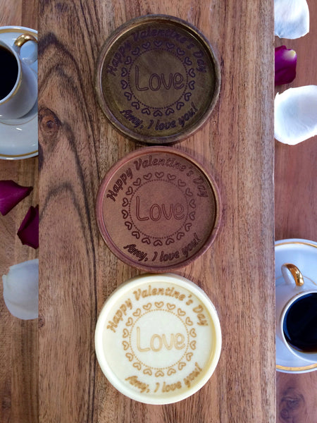 Love Chocolate Medallions - Box of 3