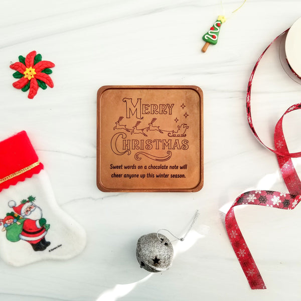 Merry Christmas Sleigh Personalized Chocolate Note