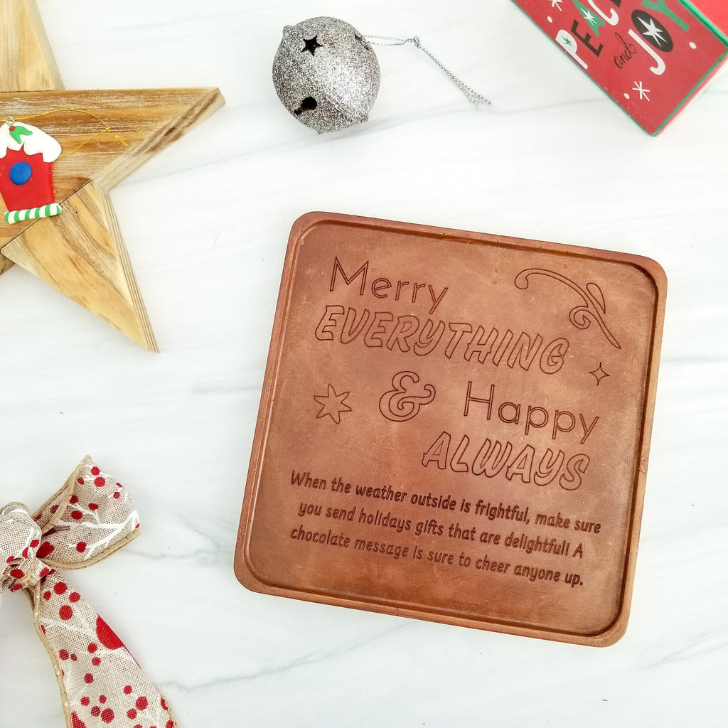 Merry Everything Personalized Chocolate Card
