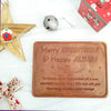 Merry Everything Personalized Chocolate Certificate