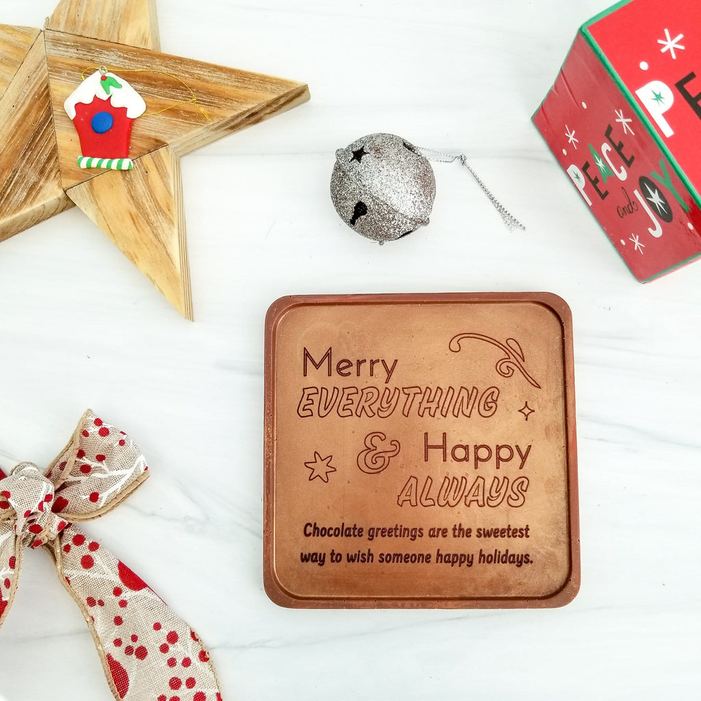 Noteworthy Chocolates Greetings Merry Everything Personalized Chocolate Note Personalized