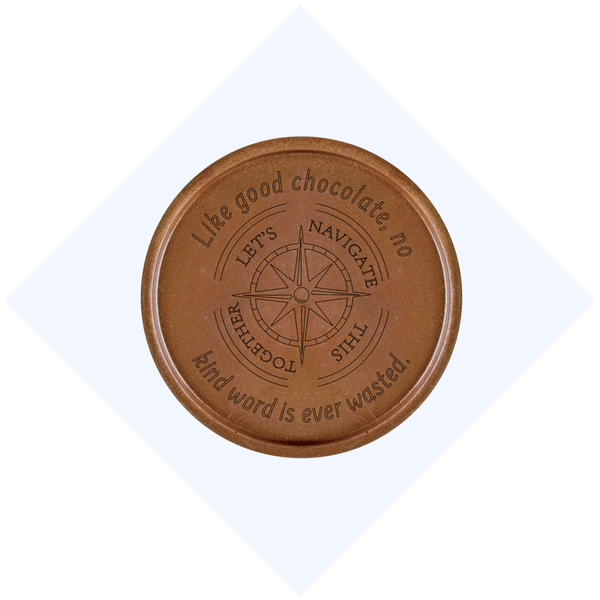 Let's Navigate Together Chocolate Medallions - Box of 3