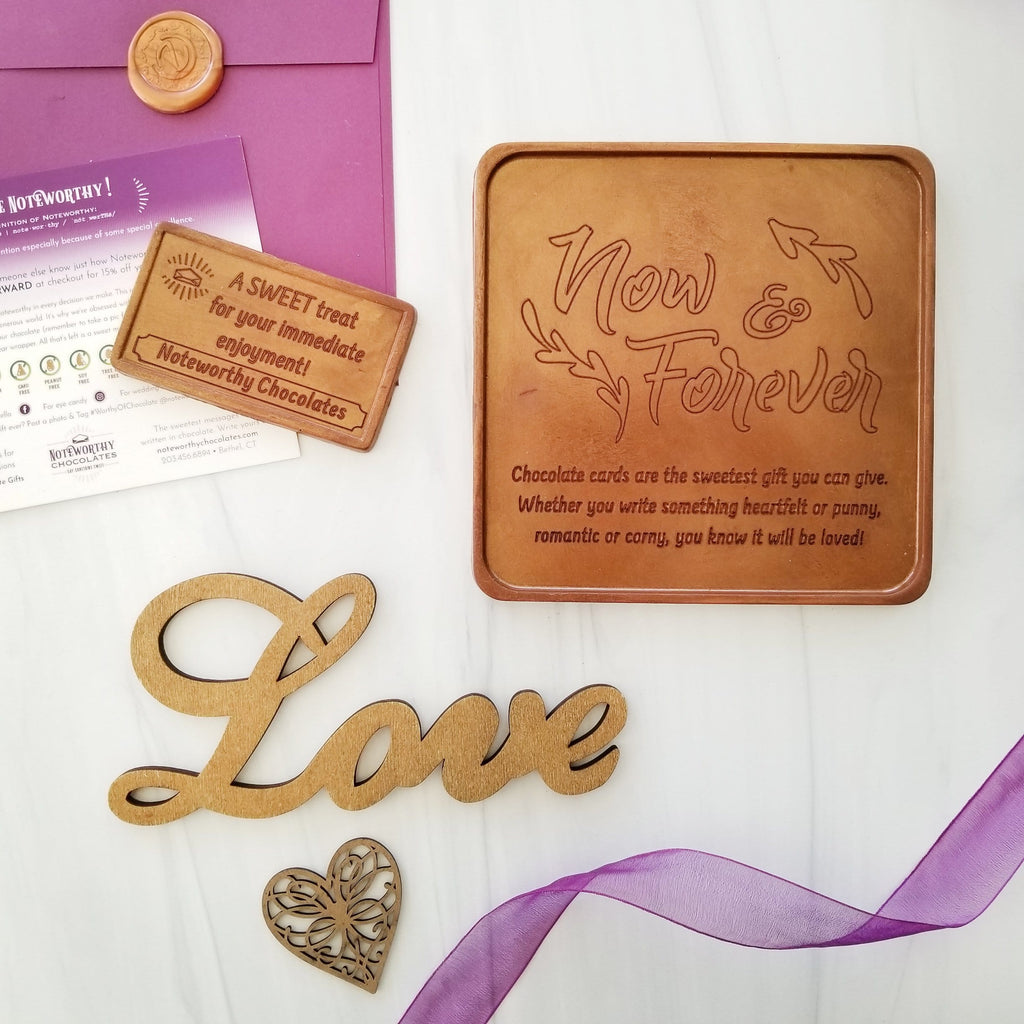 Now And Forever Personalized Chocolate Card
