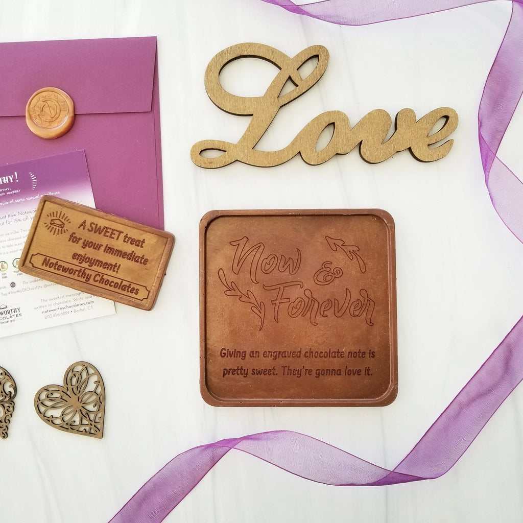 Now And Forever Personalized Chocolate Note
