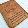 Oy To The World Personalized Chocolate Certificate