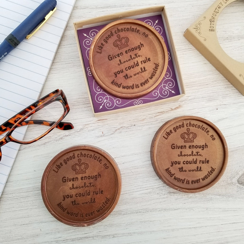 Rule The World Personalized Chocolate Medallions - Box of 3