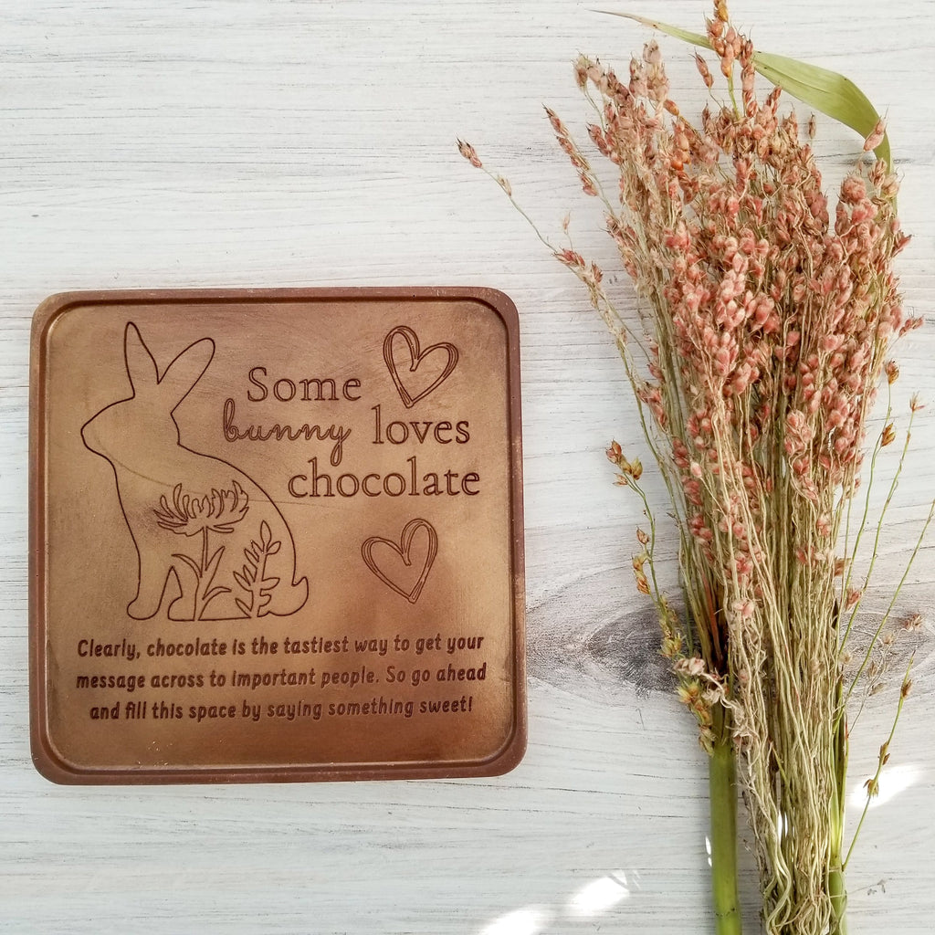 Some Bunny Personalized Chocolate Card
