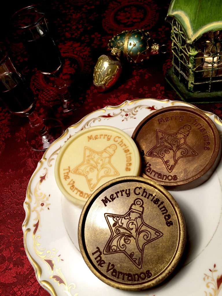 Star Ornament Chocolate Medallions - Box of 20
