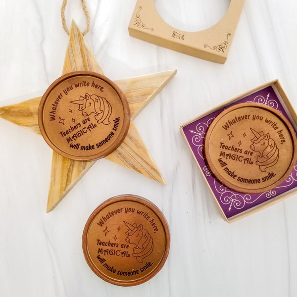 Noteworthy Chocolates Greetings Teachers Are Magical Chocolate Medallions - Box of 3 Personalized