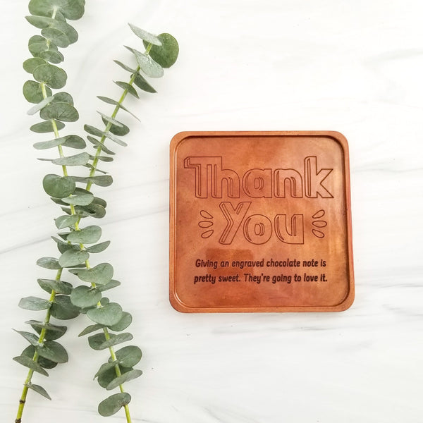 Noteworthy Chocolates Greetings Thank You Personalized Chocolate Note Personalized