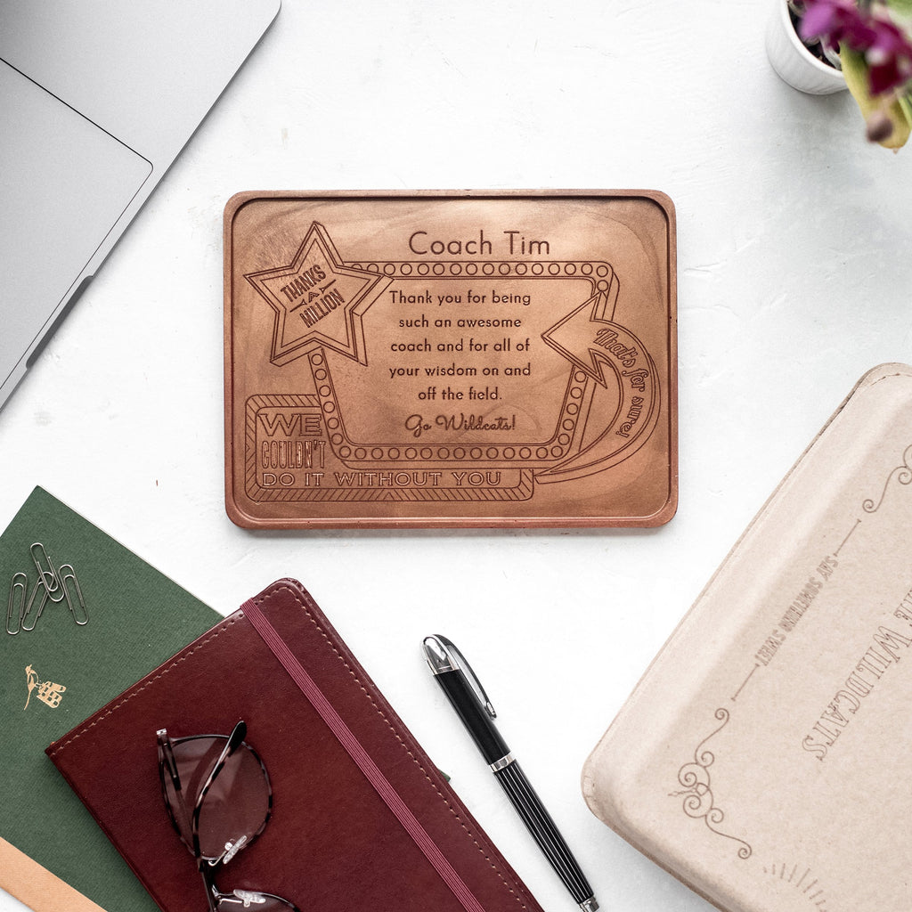 Noteworthy Chocolates Greetings Thanks A Million Personalized Chocolate Award Personalized