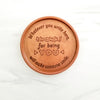 Thanks For Being You Personalized Chocolate Medallions - Box of 3