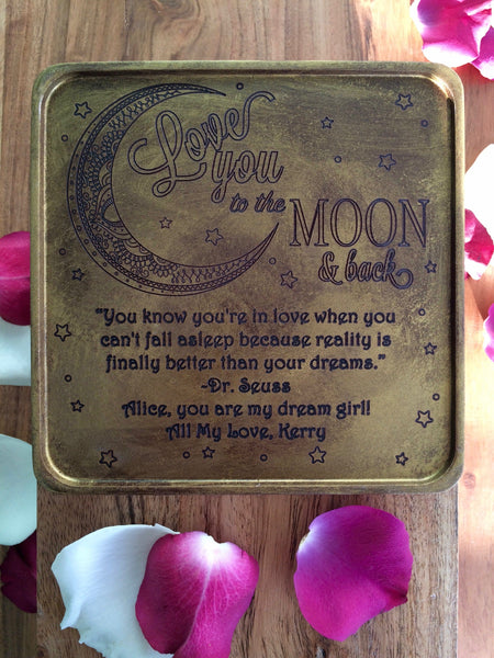 To The Moon Chocolate Card