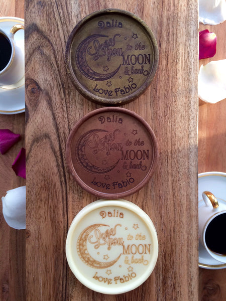 To The Moon Chocolate Medallions - Box of 3