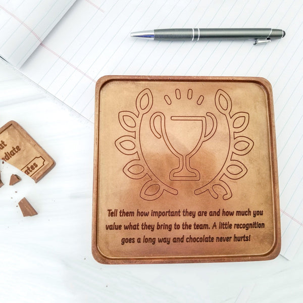Trophy Personalized Chocolate Card