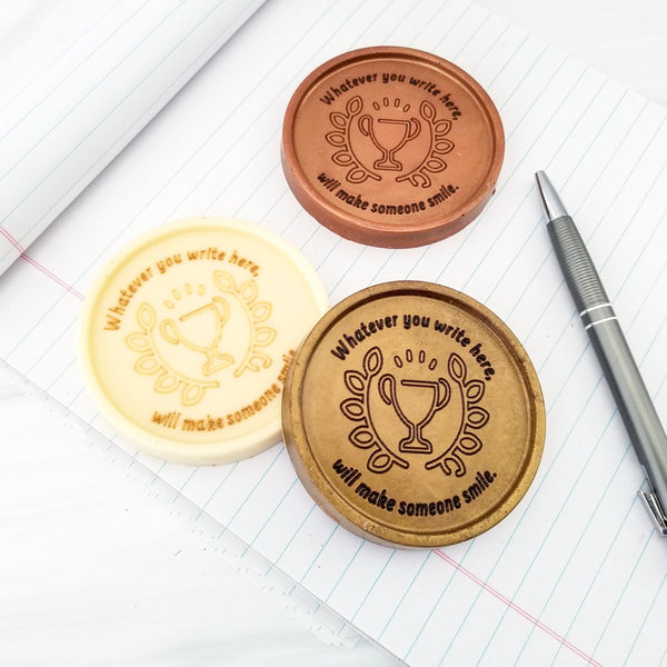 Trophy Personalized Chocolate Medallions - Box of 3