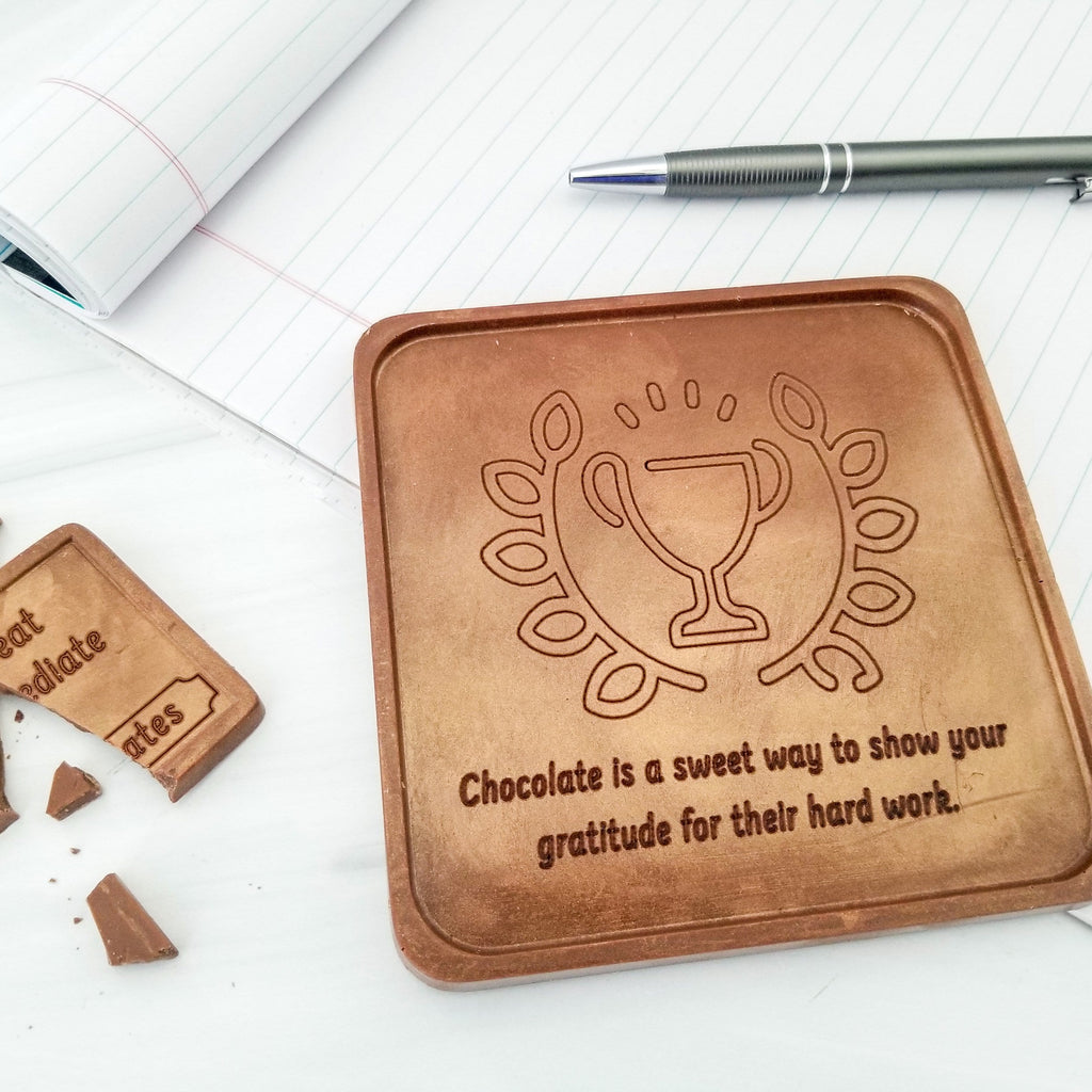 Noteworthy Chocolates Greetings Trophy Personalized Chocolate Note Personalized
