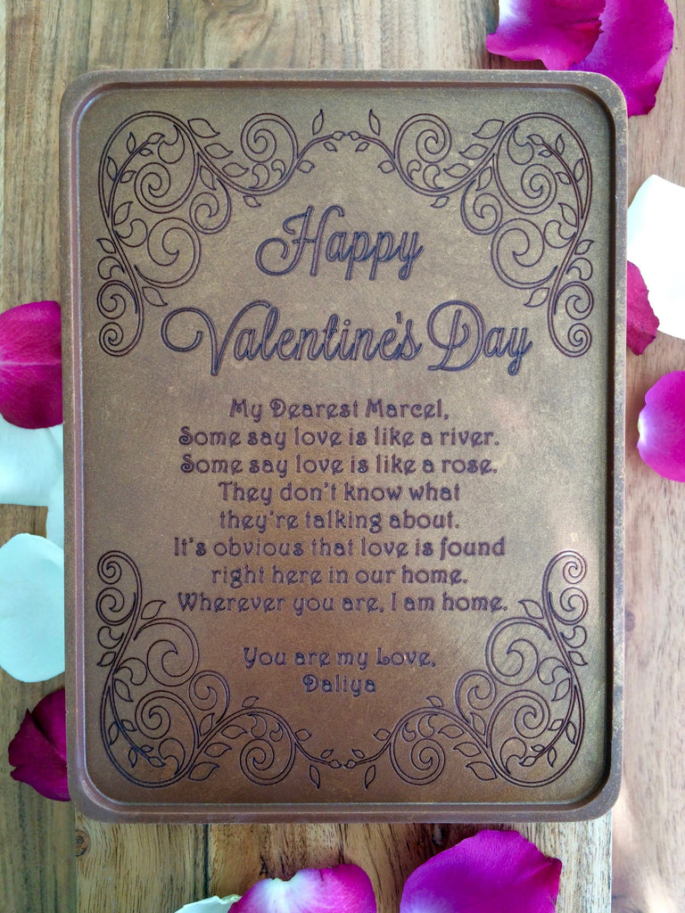 Valentine Vines Chocolate Letter