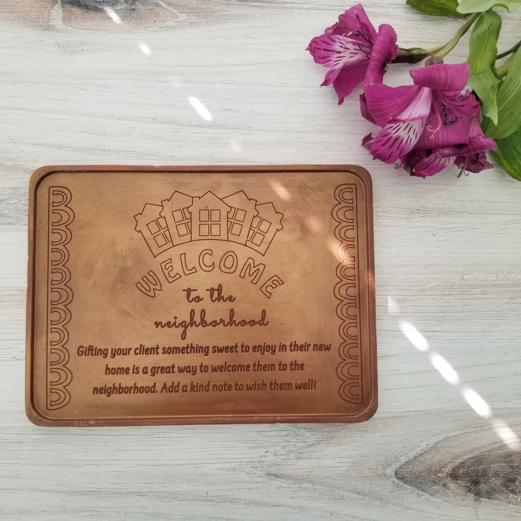 Welcome To The Neighborhood Personalized Chocolate Certificate