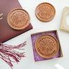 Noteworthy Chocolates Greetings You Did It Grad Personalized Chocolate Medallions - Box of 3 Personalized custom